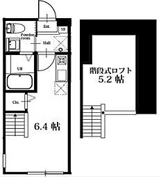 神奈川県横浜市保土ケ谷区宮田町2丁目の賃貸アパートの間取り