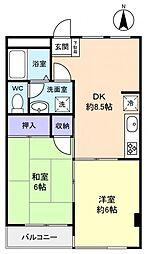 アメニティーハイム21[2階]の間取り