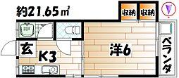 フルハウス[105号室]の間取り