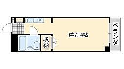 ロンネスト WAVE HOUSE(ウェーブハウス)[205号室]の間取り
