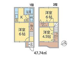 千葉県松戸市五香の賃貸アパートの間取り