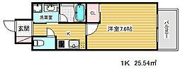 ピアグレース神戸[504号室]の間取り