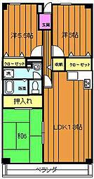 サザンコート堺[305号室]の間取り