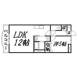 静岡県浜松市中区鹿谷町の賃貸マンションの間取り