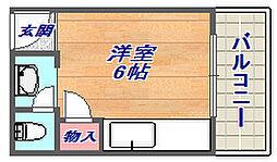 プチシャトー徳井[55号室]の間取り
