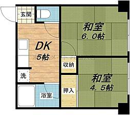 高津マンション[3階]の間取り