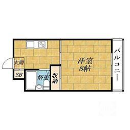アミニティーハイツ田村[3階]の間取り