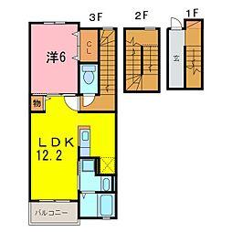 仮)安城市和泉町アパート[302号室]の間取り