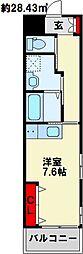 ホームメイト八雲 1階ワンルームの間取り