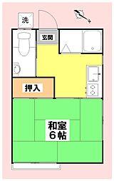 第二松栄荘[206号室]の間取り