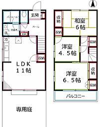 [テラスハウス] 東京都国分寺市南町2丁目 の賃貸【/】の間取り