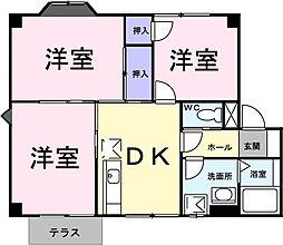 グリーンパレス吉田[1階]の間取り