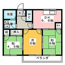 ハミング藤塚[1階]の間取り