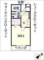 セーリングV A棟[1階]の間取り