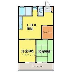 徳島県徳島市北矢三町3丁目の賃貸マンションの間取り