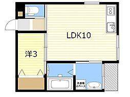 JR日豊本線 国分駅 徒歩17分の賃貸アパート 2階1LDKの間取り