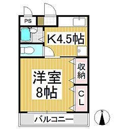 ソレイユケン[1階]の間取り