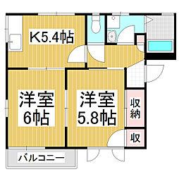DIAS OANA D棟[2階]の間取り