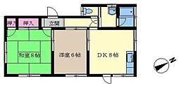 大道ハウスA[1階]の間取り