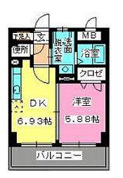 ローヤルマンション博多駅前[7階]の間取り