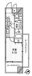 東京都台東区浅草橋4丁目の賃貸マンションの間取り