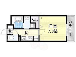 大阪モノレール彩都線 豊川駅 徒歩4分の賃貸アパート 2階1Kの間取り
