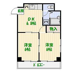 メゾンパークス[6階]の間取り