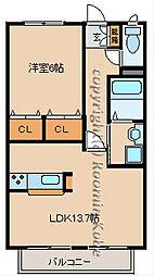 シャーメゾン清水[B202号室]の間取り