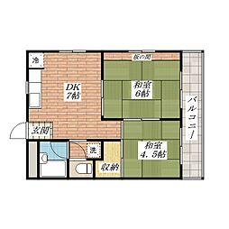 佐藤第3マンション[1階]の間取り
