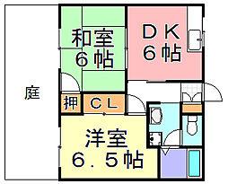 山田ハイツ[1階]の間取り