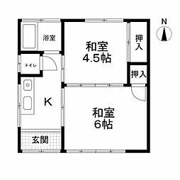 大澤荘B棟[2階]の間取り