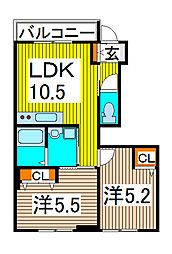 lien colline[1階]の間取り