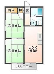 広島県呉市焼山政畝2丁目の賃貸アパートの間取り
