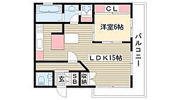 愛知県名古屋市名東区極楽2丁目の賃貸マンションの間取り