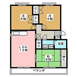 GRANDEUR'D[2階]の間取り