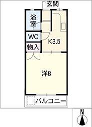 MITA HOUSE II 1階1Kの間取り