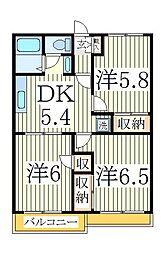 サンライズドールA棟[1階]の間取り