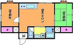 東京都調布市佐須町5丁目の賃貸マンションの間取り