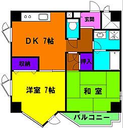 静岡県浜松市中区寺島町の賃貸マンションの間取り