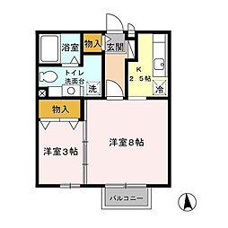パークコート ホーム[2階]の間取り
