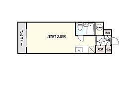 本町通桜苑ビル 8階ワンルームの間取り