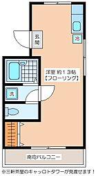 若藤第2マンション[304号室]の間取り