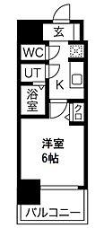 プレサンス南堀江 3階1Kの間取り
