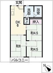フォーブル石川[2階]の間取り