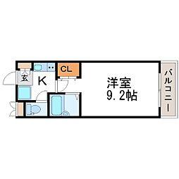 兵庫県尼崎市椎堂1丁目の賃貸マンションの間取り