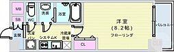 Osaka Metro長堀鶴見緑地線 松屋町駅 徒歩6分の賃貸マンション 5階1Kの間取り