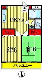 千葉県船橋市海神4丁目の賃貸マンションの間取り