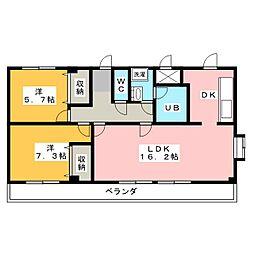 アティックハウスII[3階]の間取り