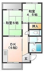 マンションタカ[2階]の間取り