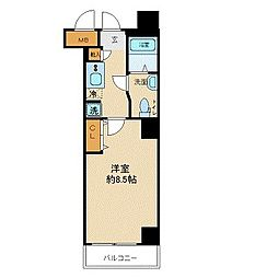 JR山手線 巣鴨駅 徒歩2分の賃貸マンション 3階1Kの間取り